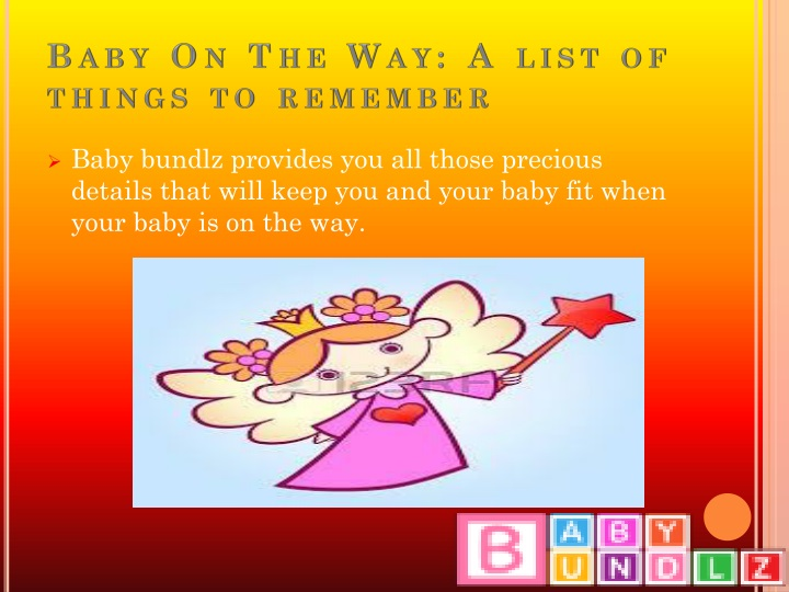 Baby on the way a list of things to remember
