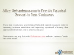 allow go4customer com to provide technical support to your customers