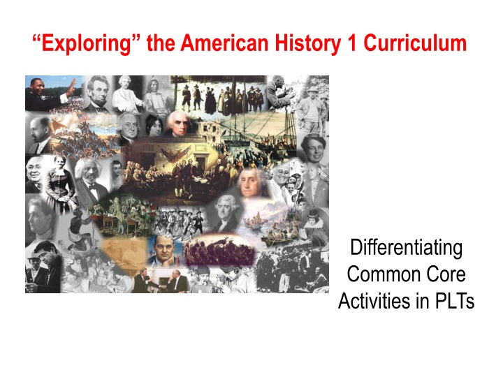 exploring the american history 1 curriculum n.