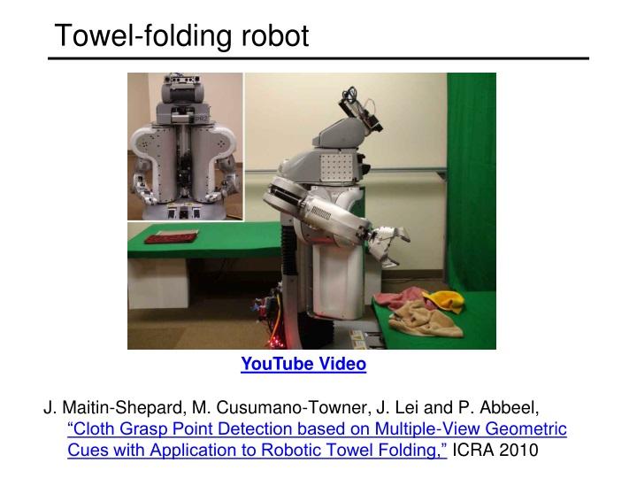 Towel-folding robot