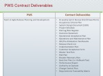 pws contract deliverables