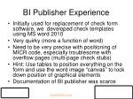 bi publisher experience