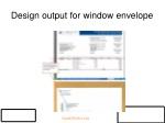 design output for window envelope