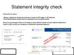 statement integrity check