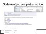 statement job completion notice