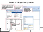 statement page components