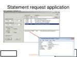 statement request application
