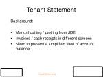 tenant statement
