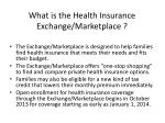 what is the health insurance exchange marketplace