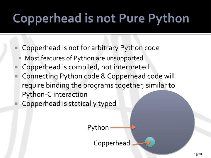 Copperhead is not