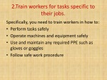 2 train workers for tasks specific to their jobs