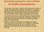 innovative approaches and methods for flexible training delivery