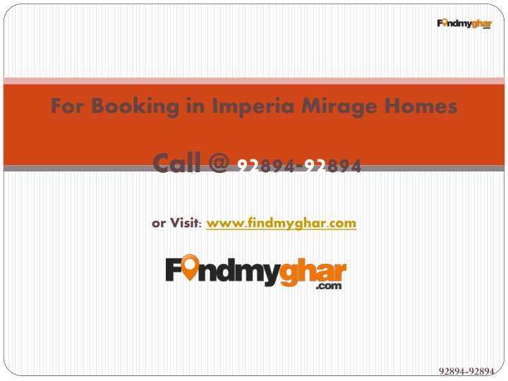 For Booking in Imperia Mirage Homes