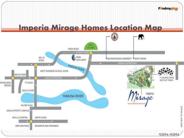 Imperia Mirage Homes Location Map