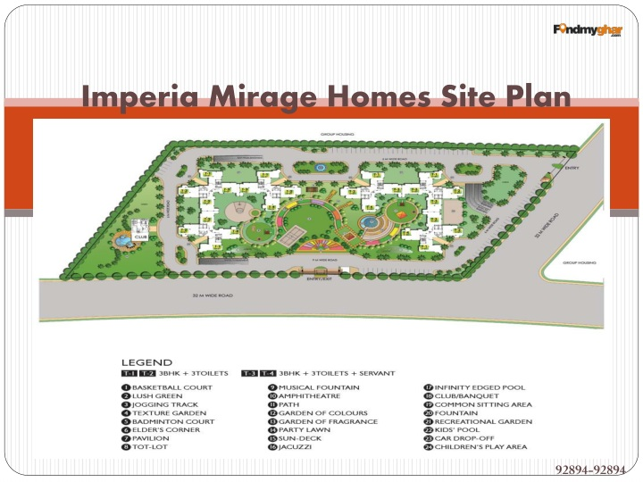 Imperia Mirage Homes Site Plan
