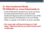 3c lotus boulevard noida 9910006454 or www flatsinnoida in1