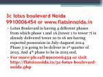 3c lotus boulevard noida 9910006454 or www flatsinnoida in2