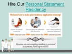 hire our personal statement residency