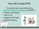 how we create rps