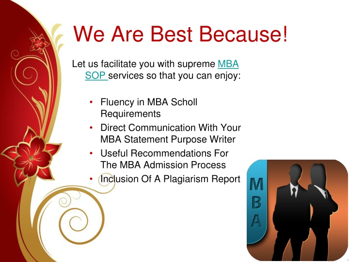 We Are Best Because!