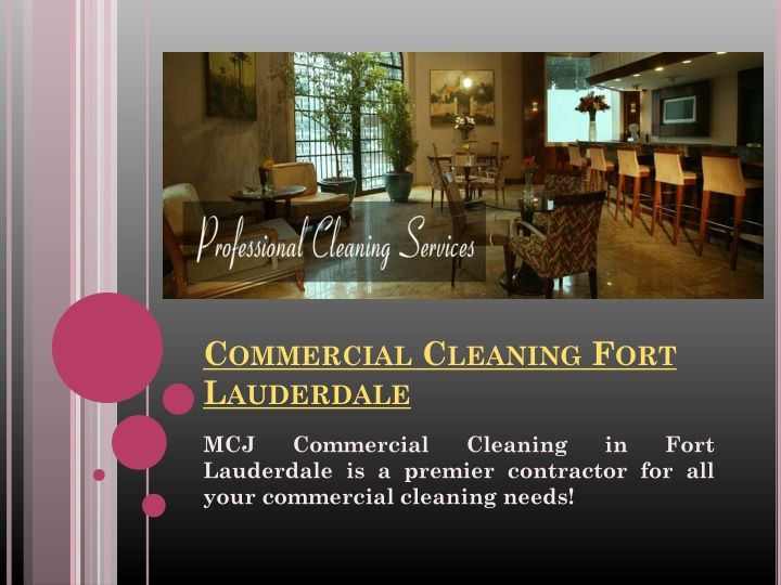 Commercial cleaning fort lauderdale