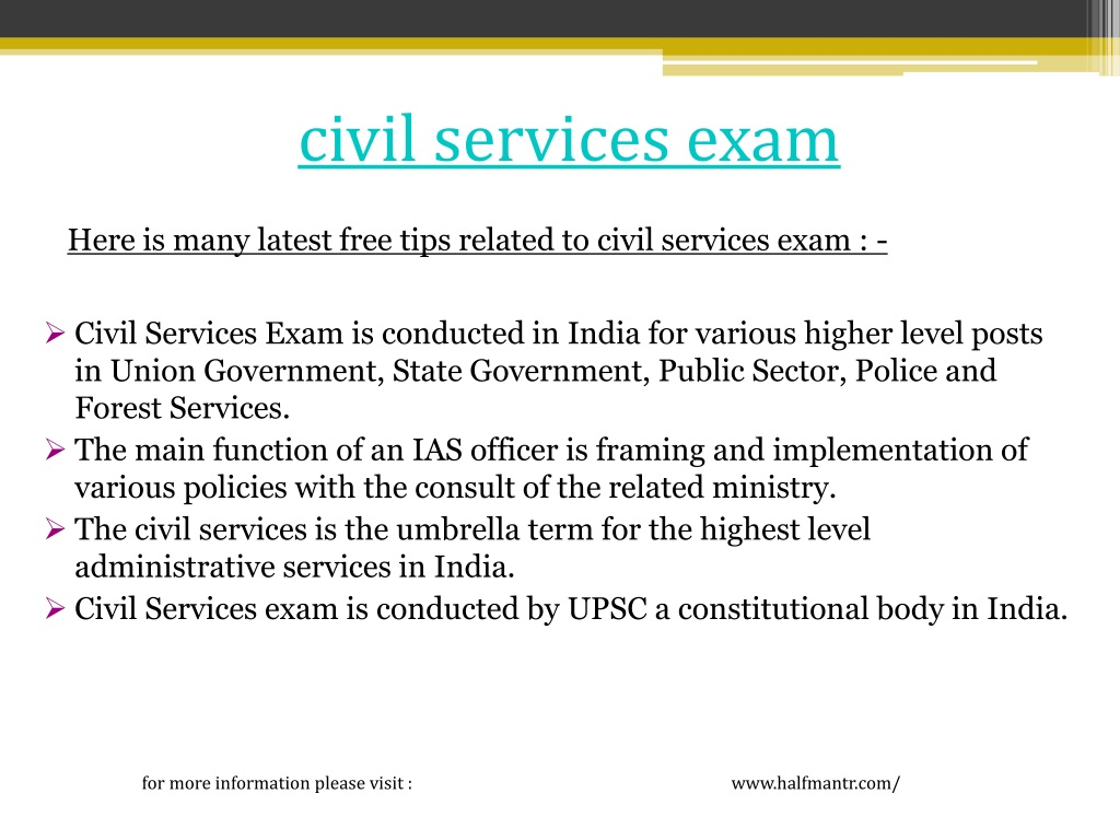 civil services exam n.