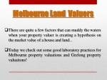 melbourne land valuers