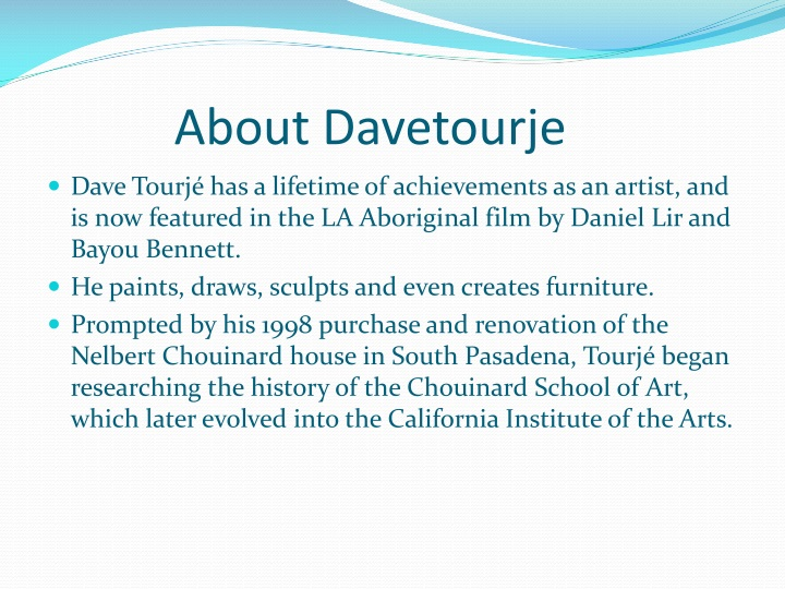 About Davetourje