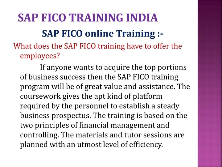 Sap fico training india