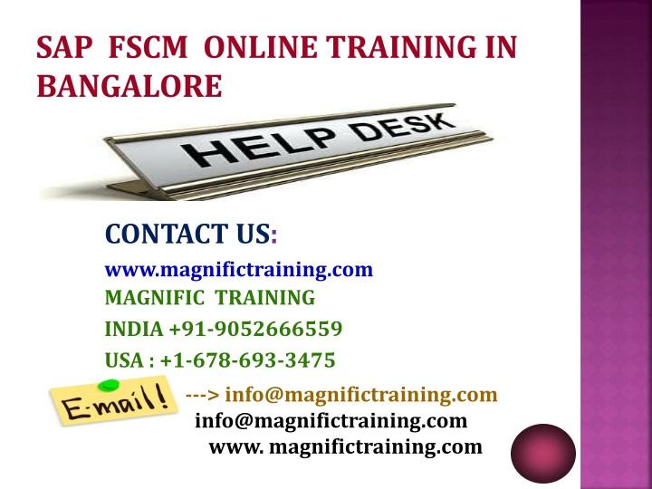 SAP  FSCM  ONLINE TRAINING IN  BANGALORE