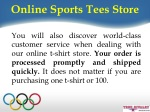 online sports tees store