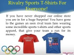 rivalry sports t shirts for everyone