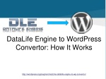 datalife engine to wordpress convertor how it works