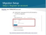 migration setup step 3 register an account