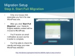 migration setup step 8 start full migration