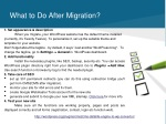what to do after migration