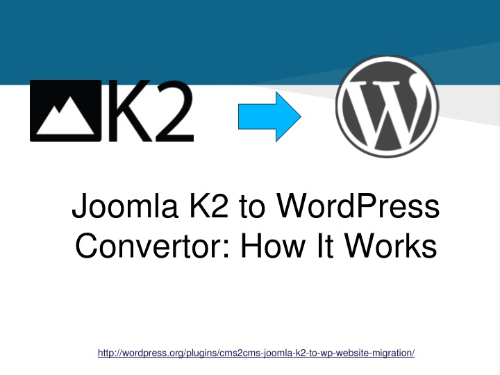 joomla k2 to wordpress convertor how it works n.