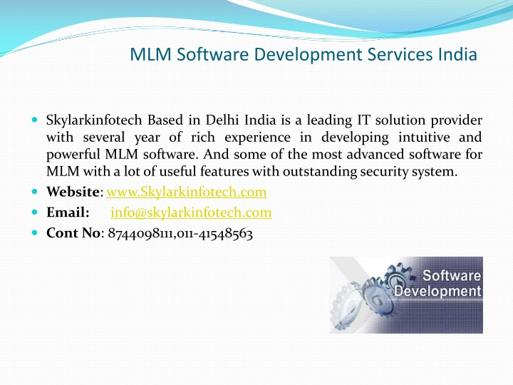 mlm software development services india n.