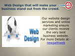web design that will make your business stand out from the crowd