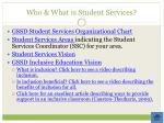 who what is student services