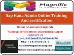 s ap hana admin online training and certification