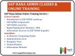 sap hana admin classes online training