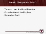 benefit changes for 9 1 12