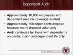 dependent audit