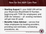 new for the a m care plan