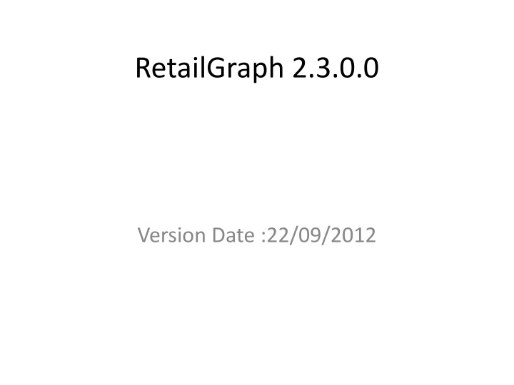 retailgraph 2 3 0 0 n.