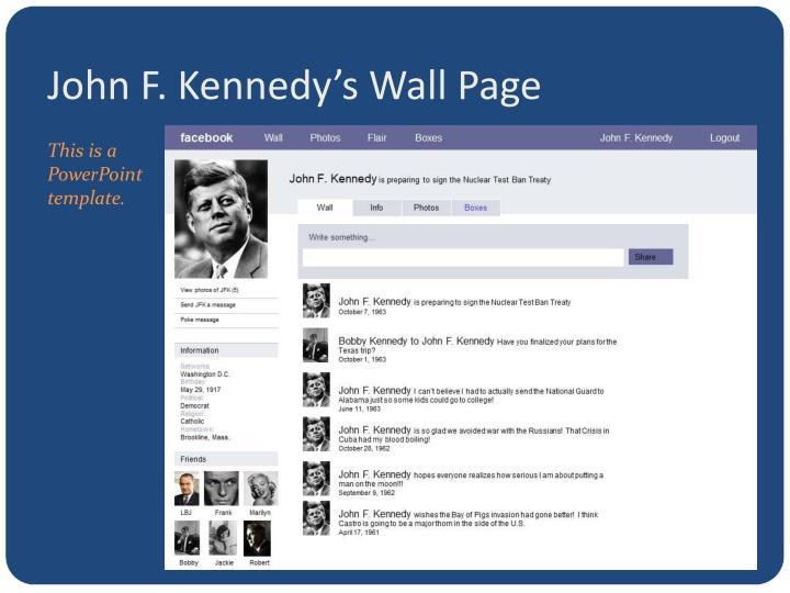 John F. Kennedy's Wall Page