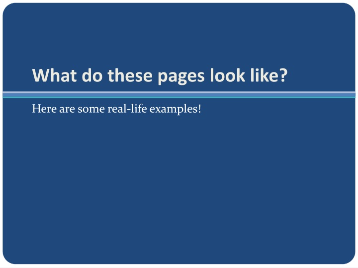 What do these pages look like?