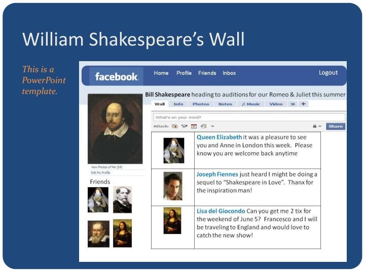 William Shakespeare's Wall