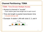 channel partitioning tdma